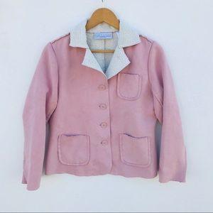 Liz Claiborne Rose Pink Suede Jacket